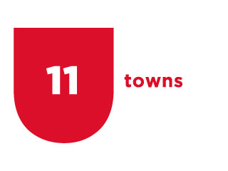 11 towns